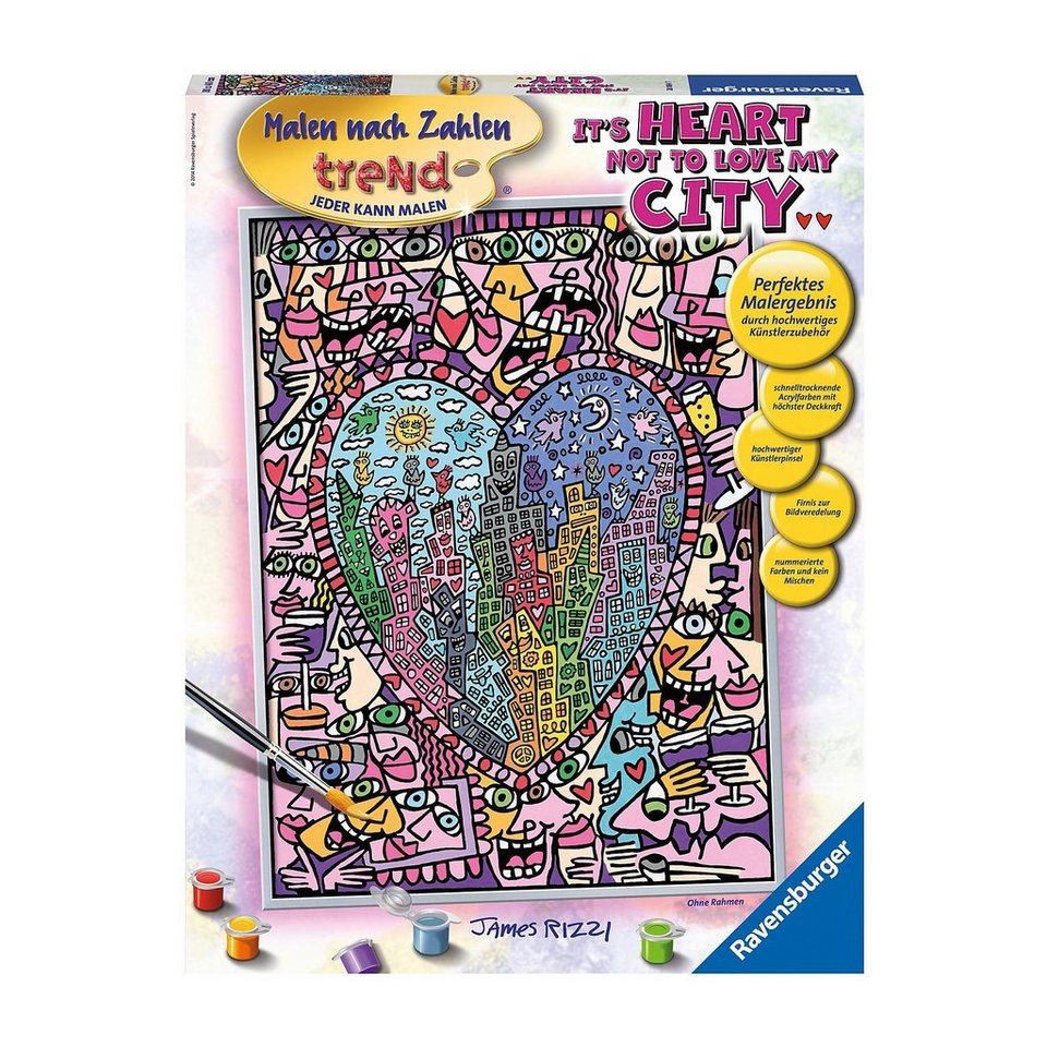 Ravensburger Malen nach Zahlen: Rizzi - It's Heart not to love my City -