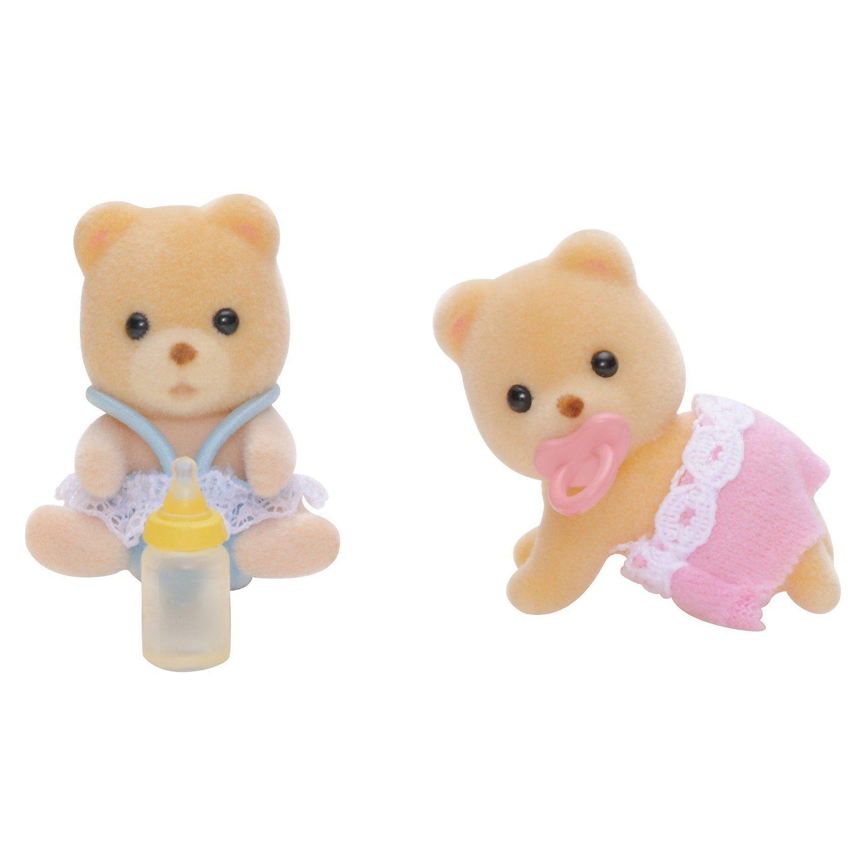 Epoch Traumwiesen Sylvanian Families Bären Zwillinge Puppenhauszubehör