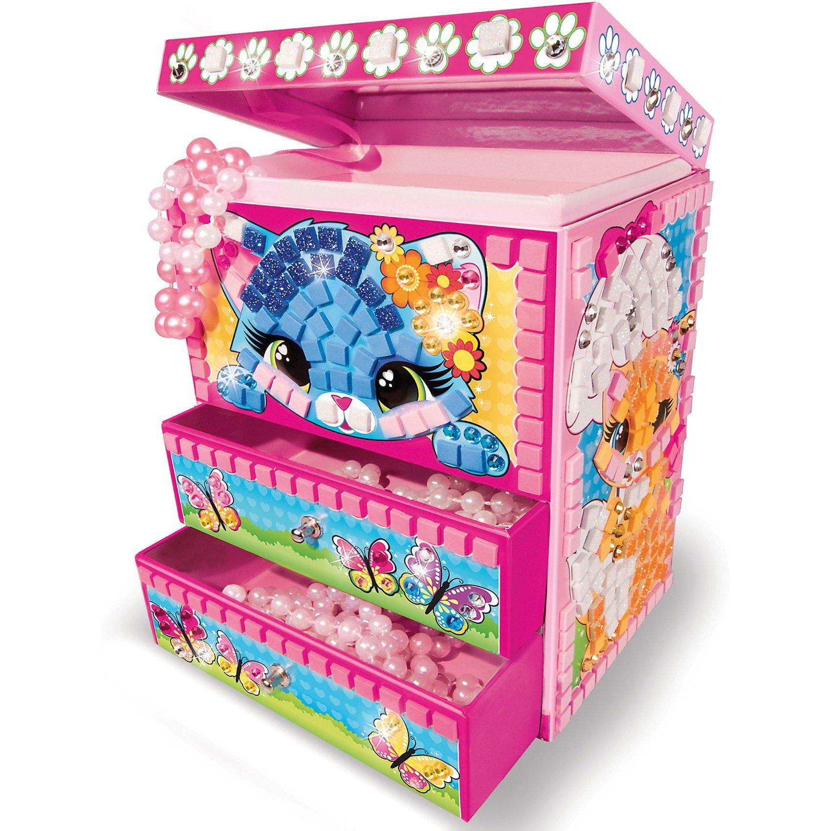 Sticky Mosaics Glitzernde Schmuckbox Süße Kätzchen