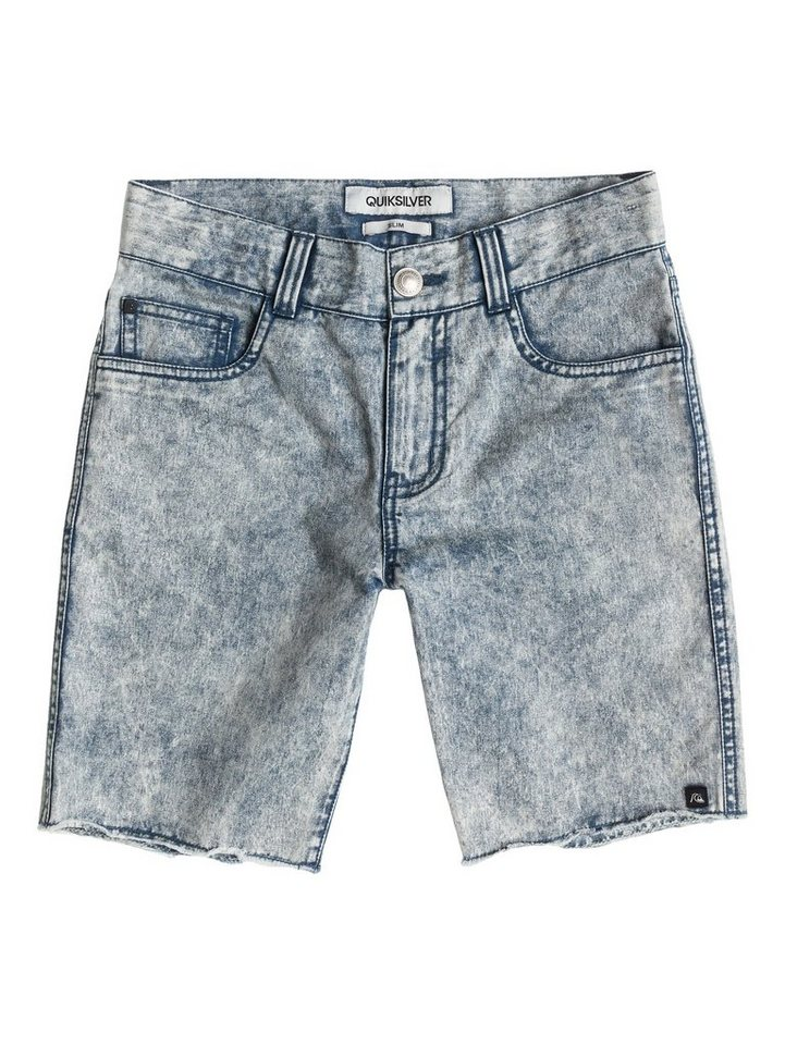 Quiksilver 5-Pocket-Shorts »Le Fiver Acid Wash Aw Youth« in dark denim