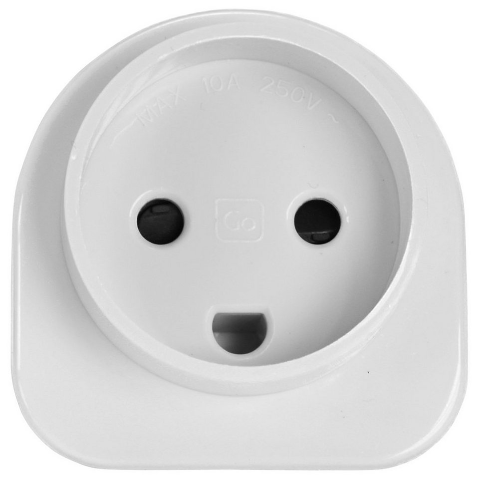 Go Travel Elektro + Elektronikgeräte Dänemark-Europa Adapter in weiß
