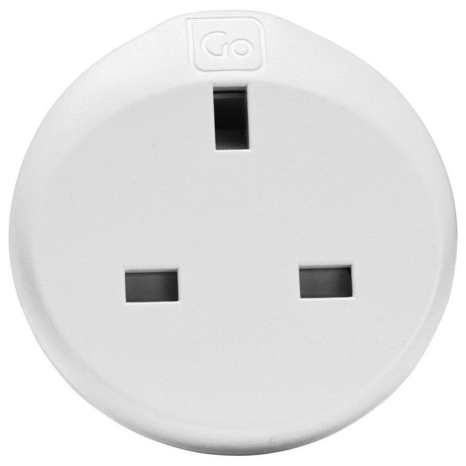 Go Travel Elektro + Elektronikgeräte Adapter UK-Weltweit 3-in-1 in weiß