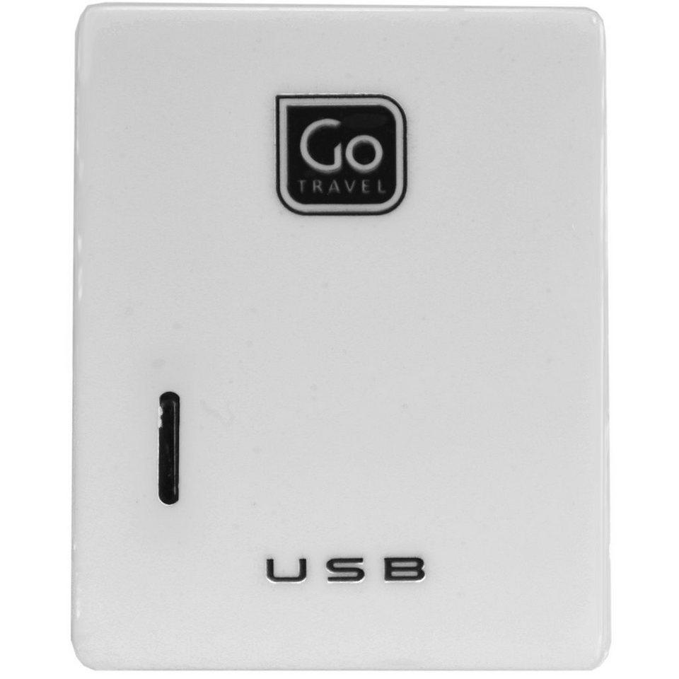 Go Travel Elektro + Elektronikgeräte Doppel-USB-Ladegerät für Micro-USB + in weiß