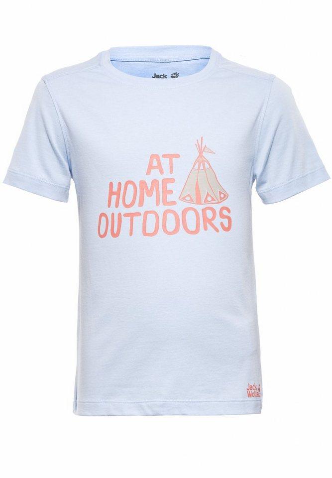 Jack Wolfskin T-Shirt »Tipi T Girls« in blau