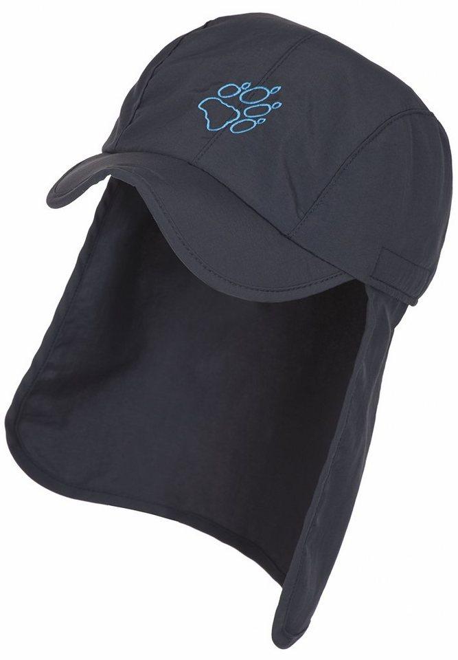Jack Wolfskin Mütze »Supplex Sun Cap Kids« in blau