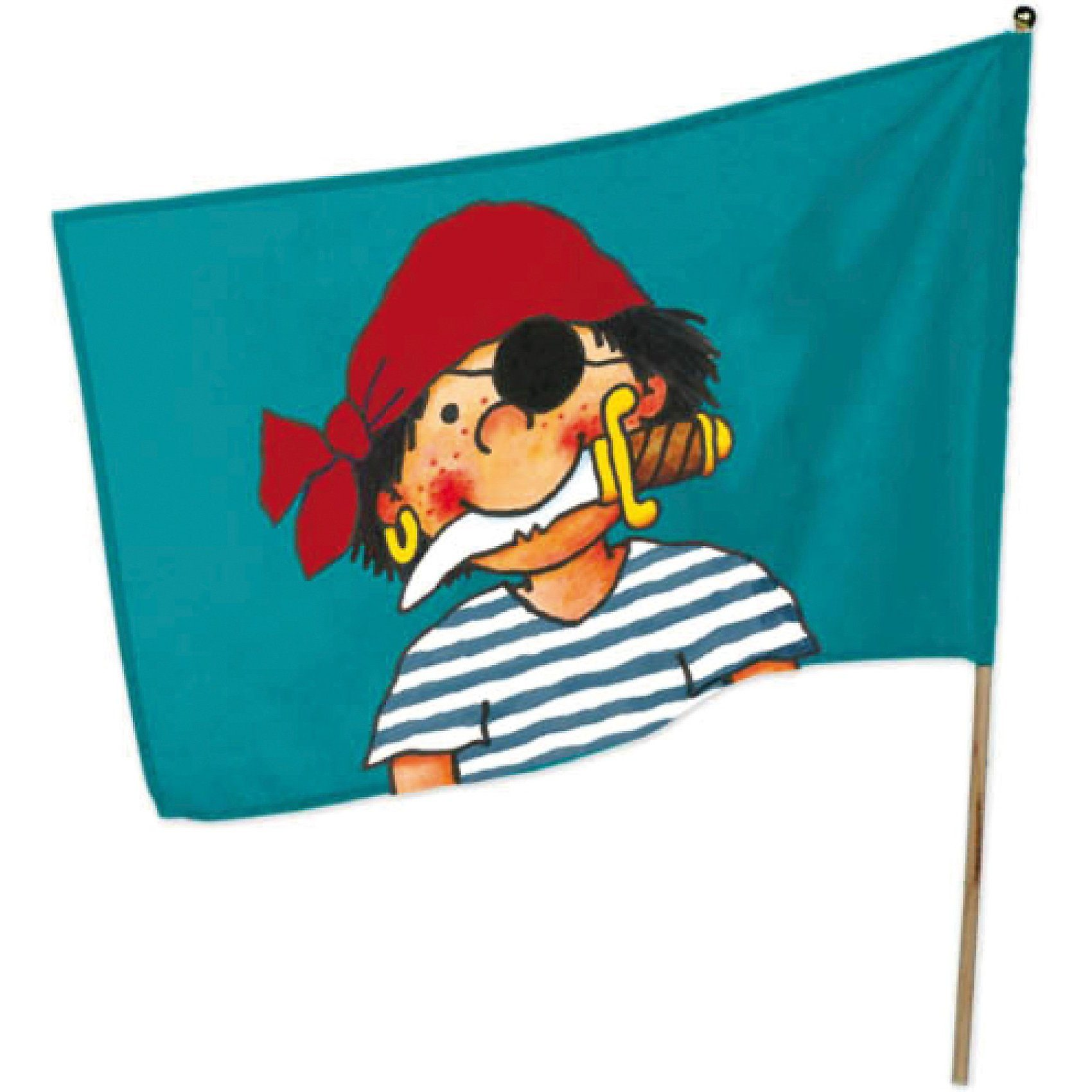 Lutz Mauder Verlag Flagge inkl. Flaggenstock Pirat Pit Planke