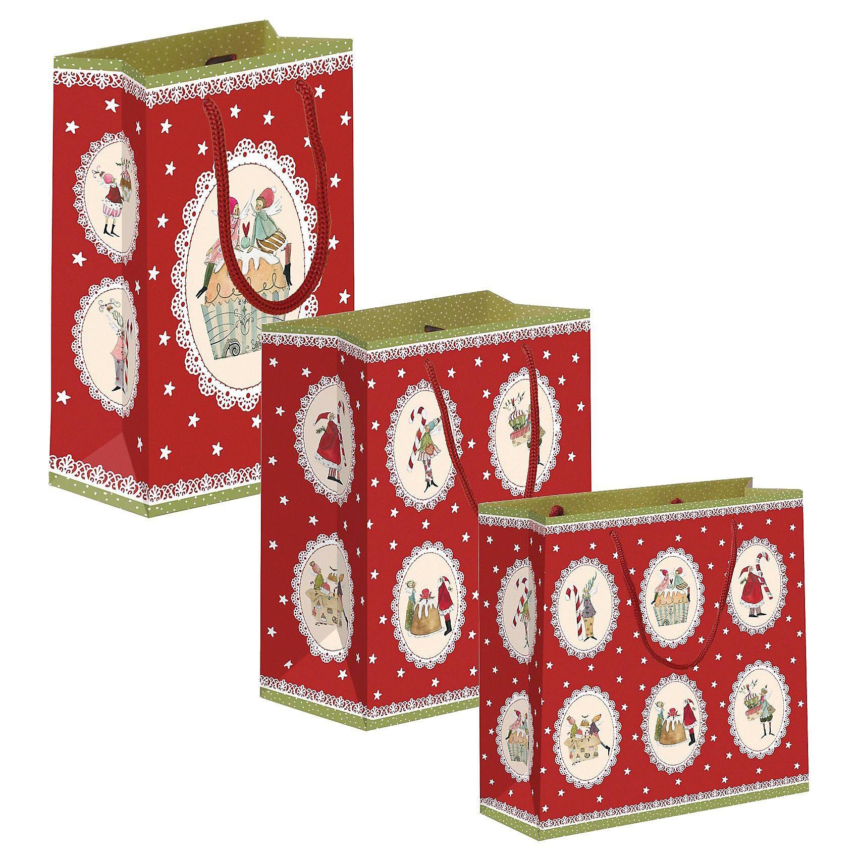 Grätz Verlag Geschenktüten-Set Sweet Christmas 3-tlg.