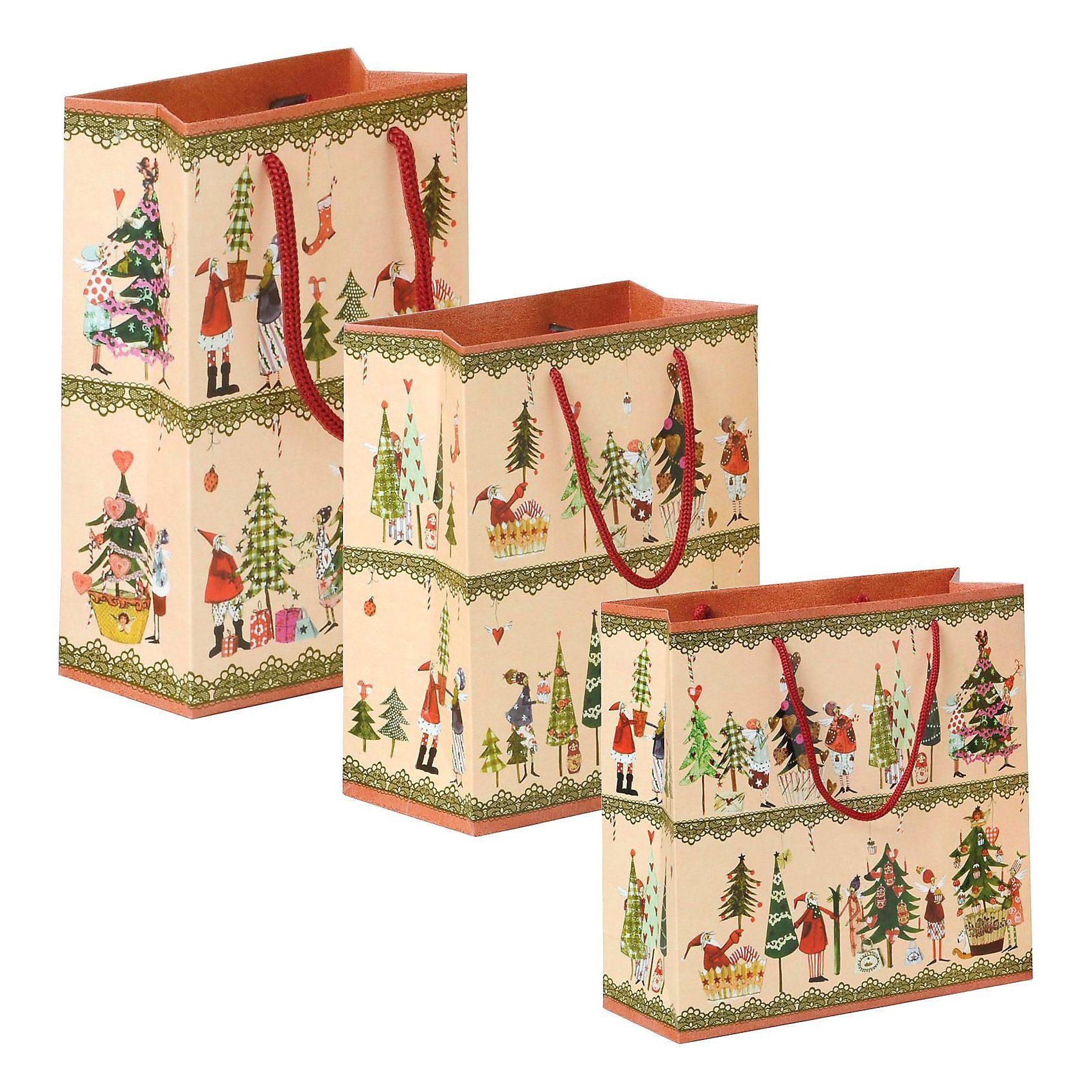 Grätz Verlag Geschenktütenset Am Weihnachtsbaume, 3-tlg.