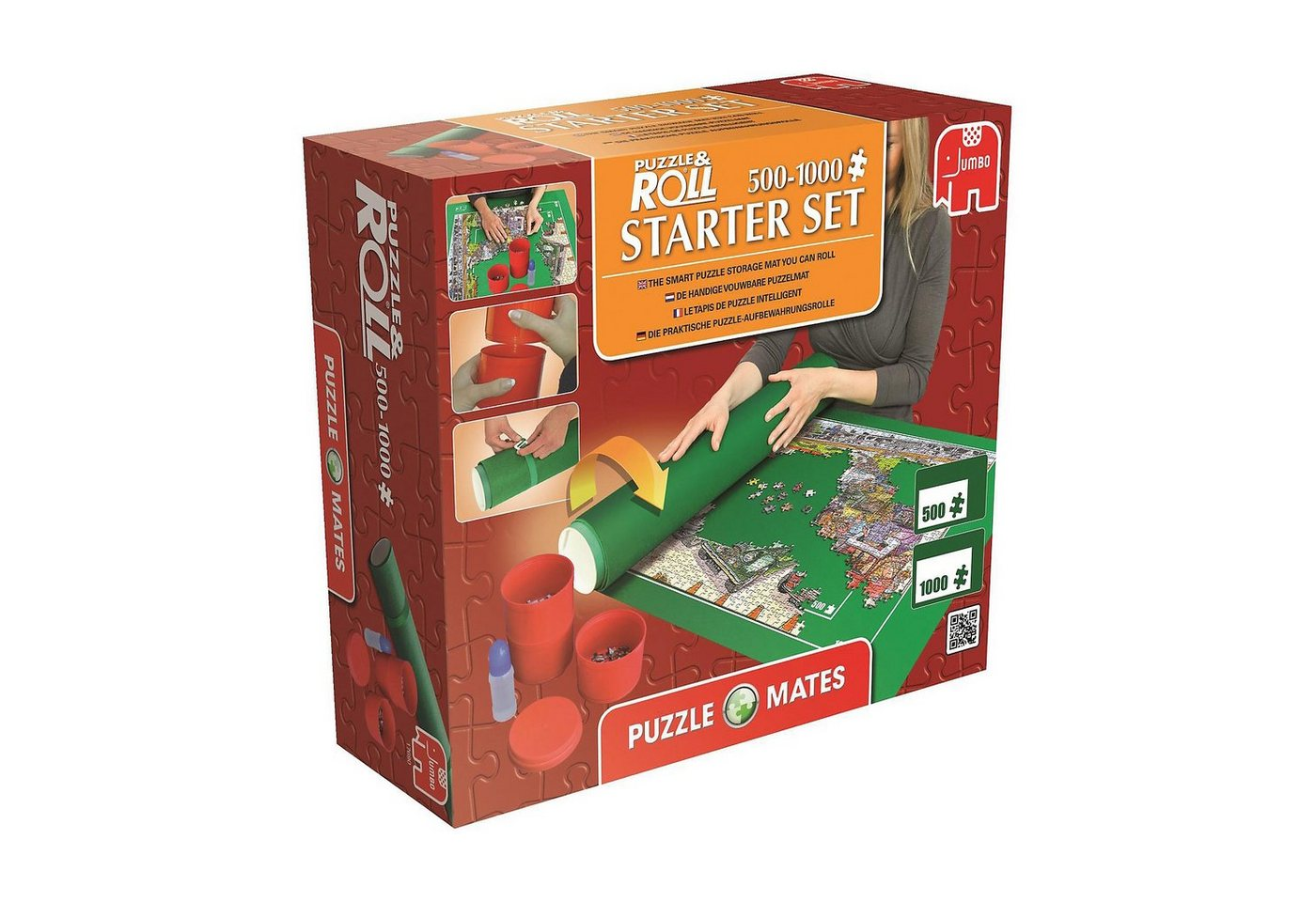 Jumbo Puzzle Mates - Puzzle & Roll Starter Set 500-1000 Teile