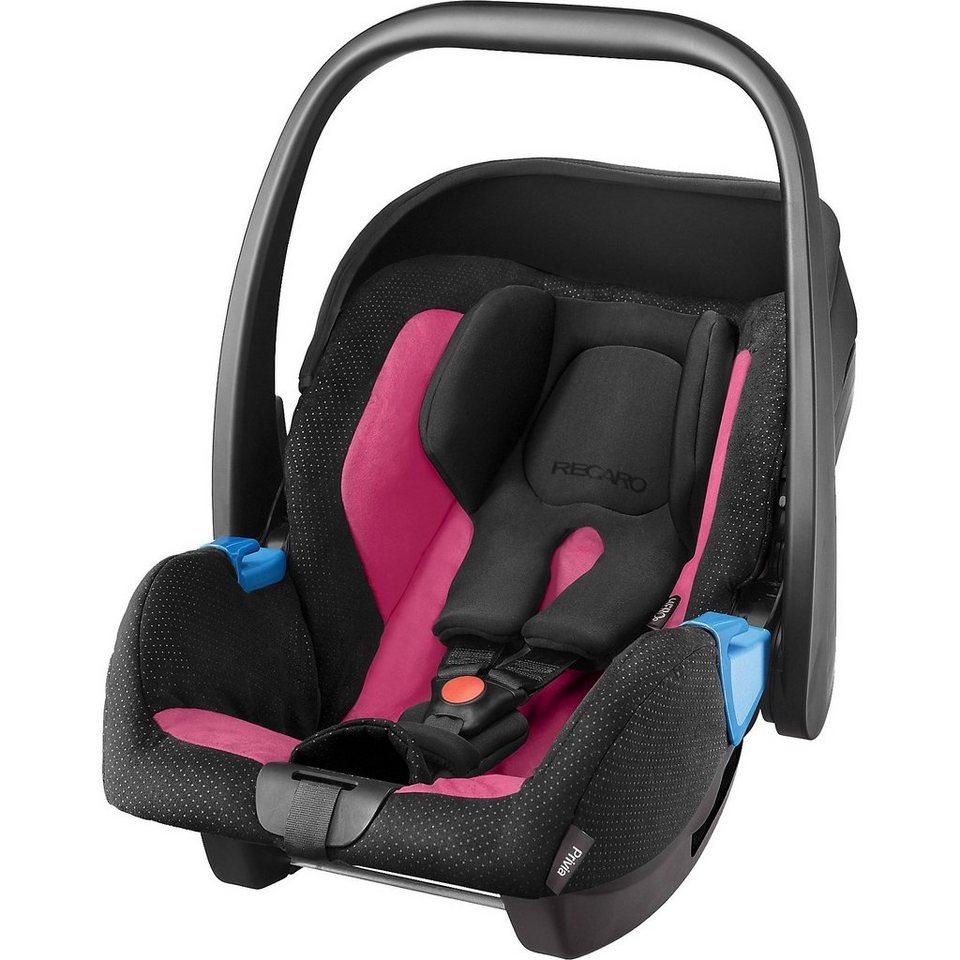 RECARO Babyschale Privia, Pink in schwarz/pink