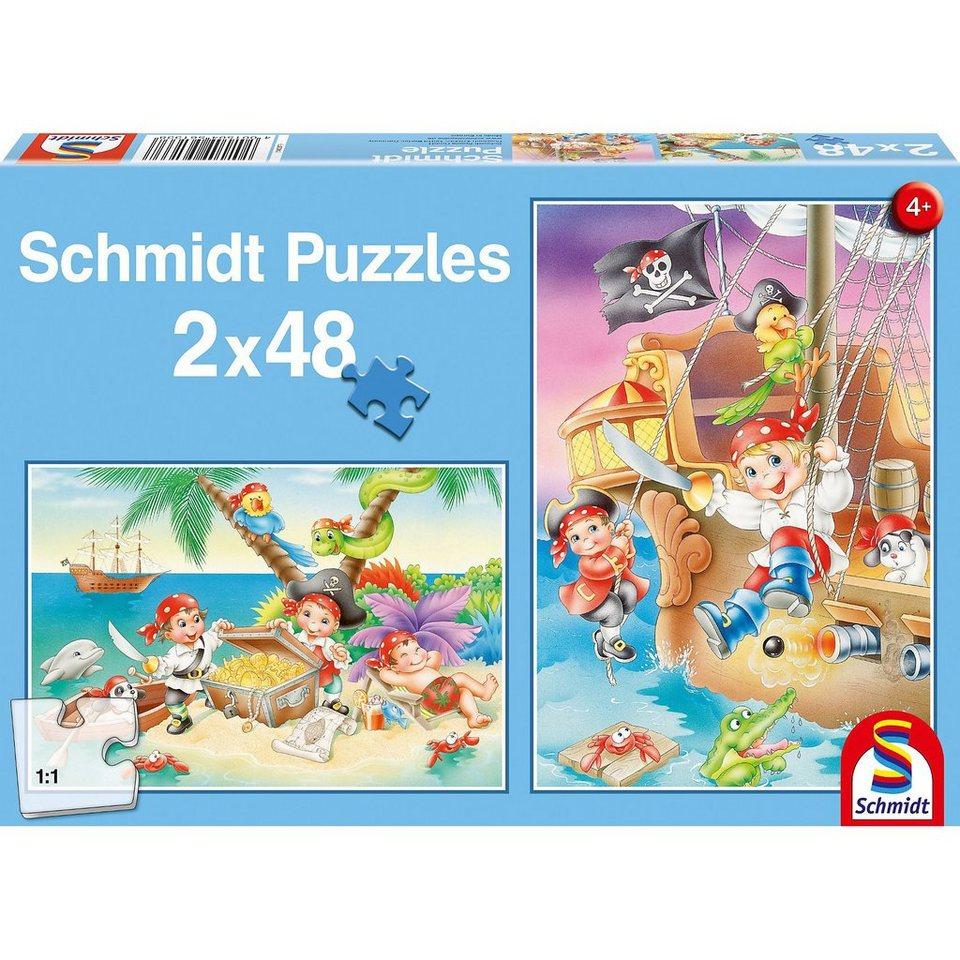 Schmidt Spiele Piratenbande, 2 x 48 Teile