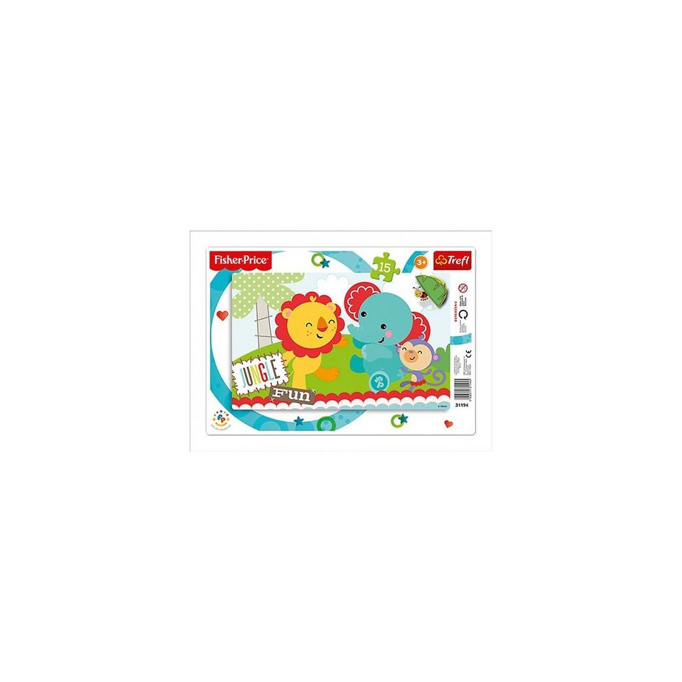 Trefl Ramenpuzzle 15 Teile - Fisher Price - Rainbow Forest