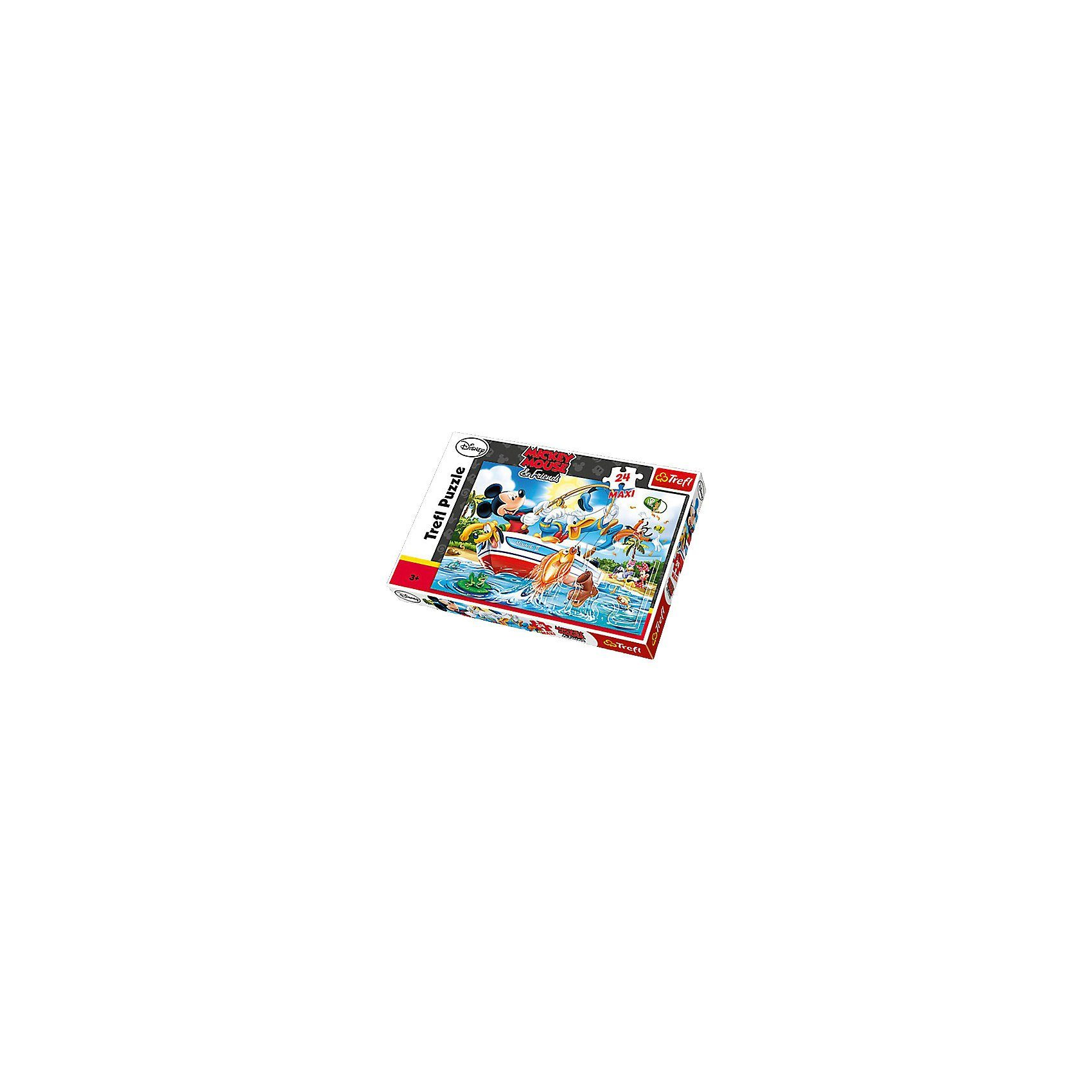 Trefl Maxi Puzzle 24 Teile - Mickey Mouse and Friends