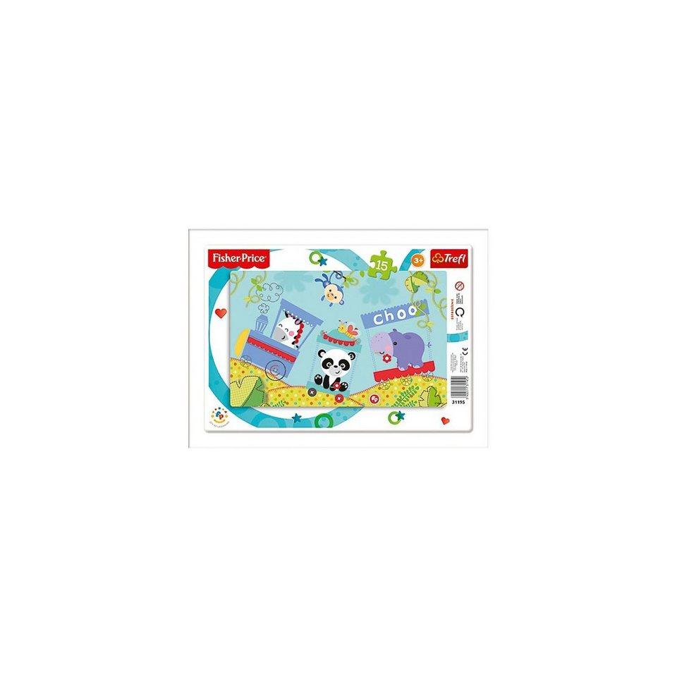 Trefl Ramenpuzzle 15 Teile - Fisher Price - Rainbow Forest
