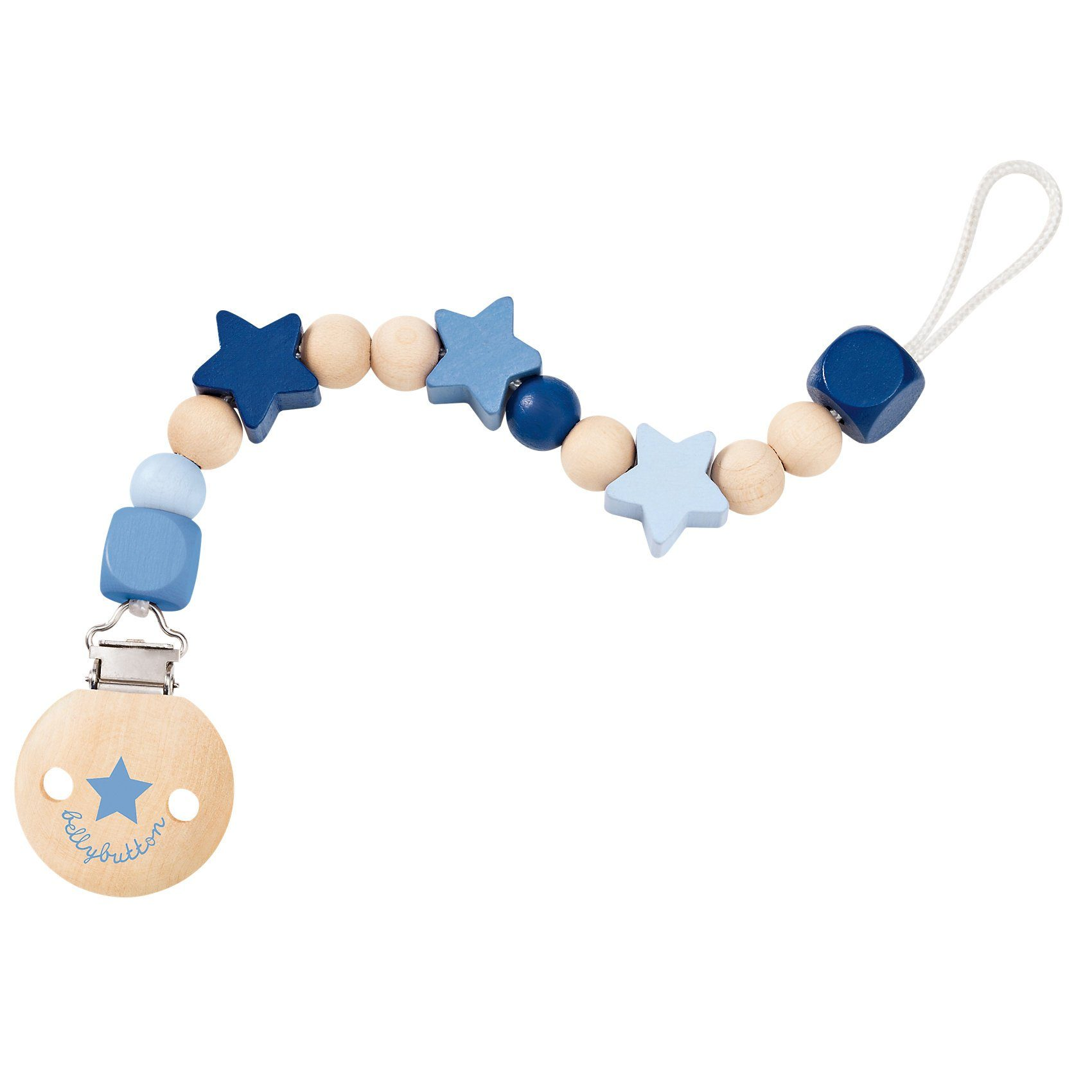 Selecta Sternchenglück Schnullerkette bellybutton, blau