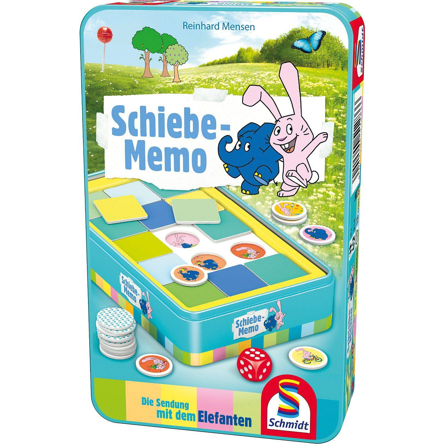 Schmidt Spiele Mitbringspiel Die Sendung mit dem Elefanten Schiebe-Memo Rei