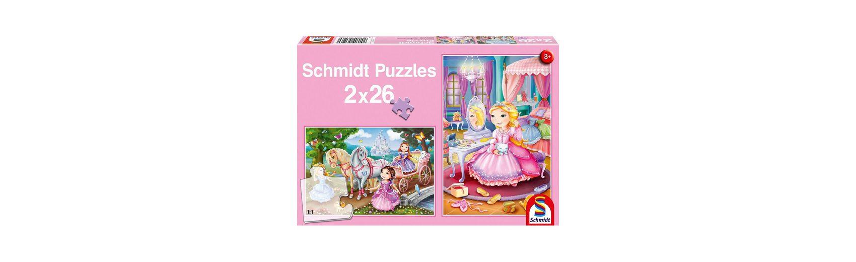 Schmidt Spiele Märchenhafte Prinzessinnen, 2 x 26 Teile