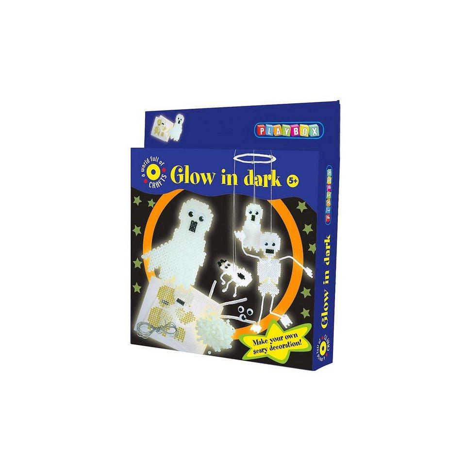 Playbox Bügelperlenset Leuchtende Gespenster, 1.100 Perlen & Zubehör