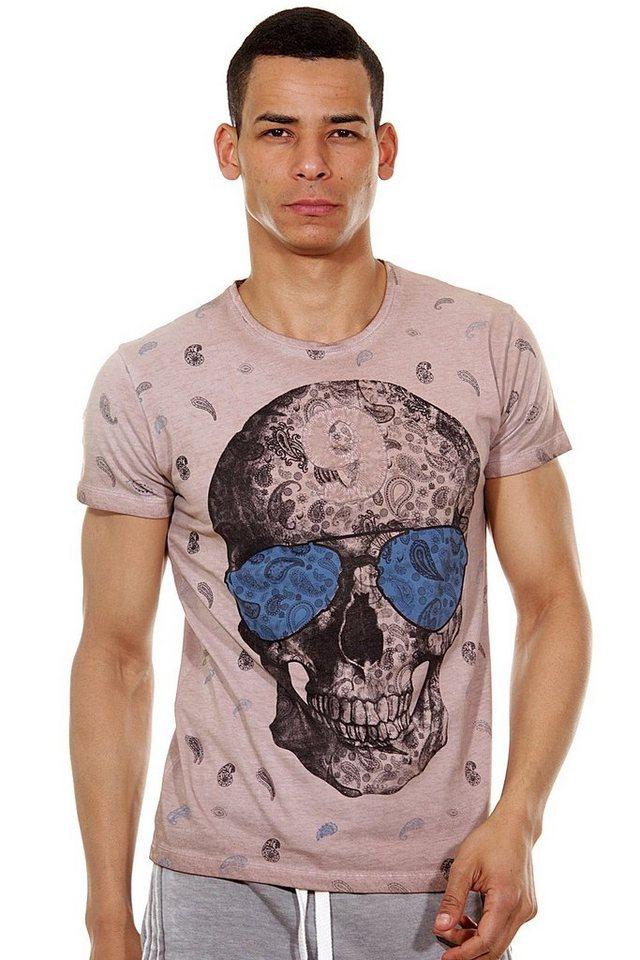 R-NEAL T-Shirt Rundhals slim fit in braun