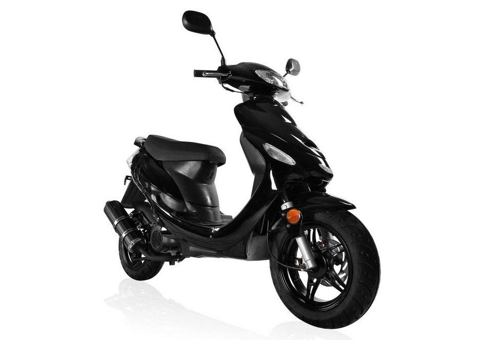 Motorroller, Motoworx, »Forza«, 50 ccm 45 km/h, 4,21 PS, schwarz in schwarz