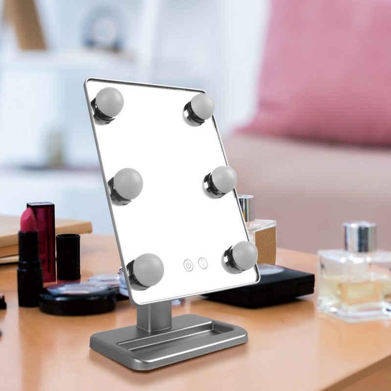 BIGTREE Kosmetikspiegel »Make-up Schminkspiegel Mit Licht Bühne Schönheit Spiegel« (1-St)