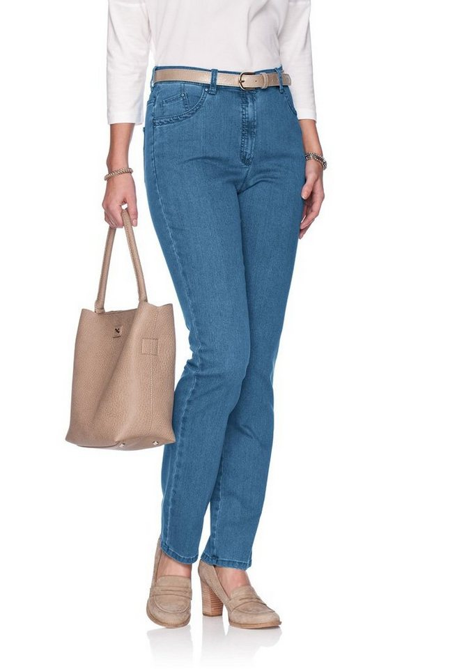 RAPHAELA by BRAX Damenjeans Five-Pocket »INA WEAVE« in BLEACHED