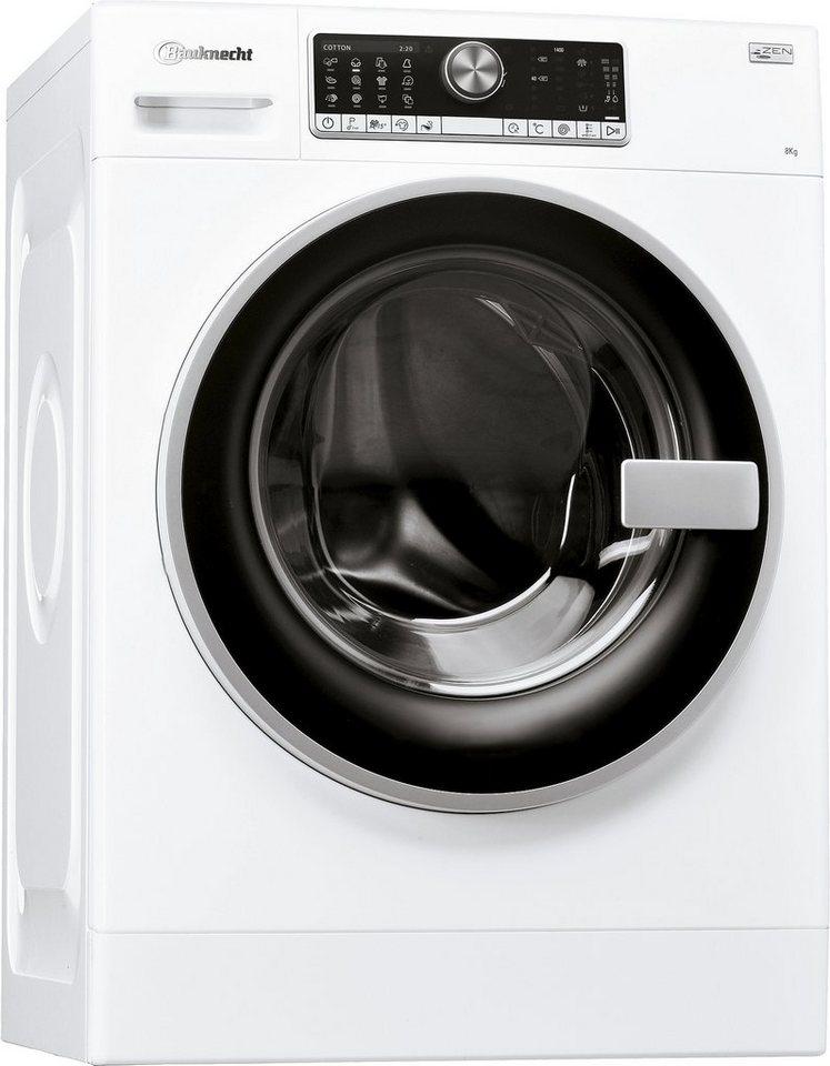 BAUKNECHT Waschmaschine WM Trend 824 ZEN, A+++, 8 kg, 1400 U/Min in weiß