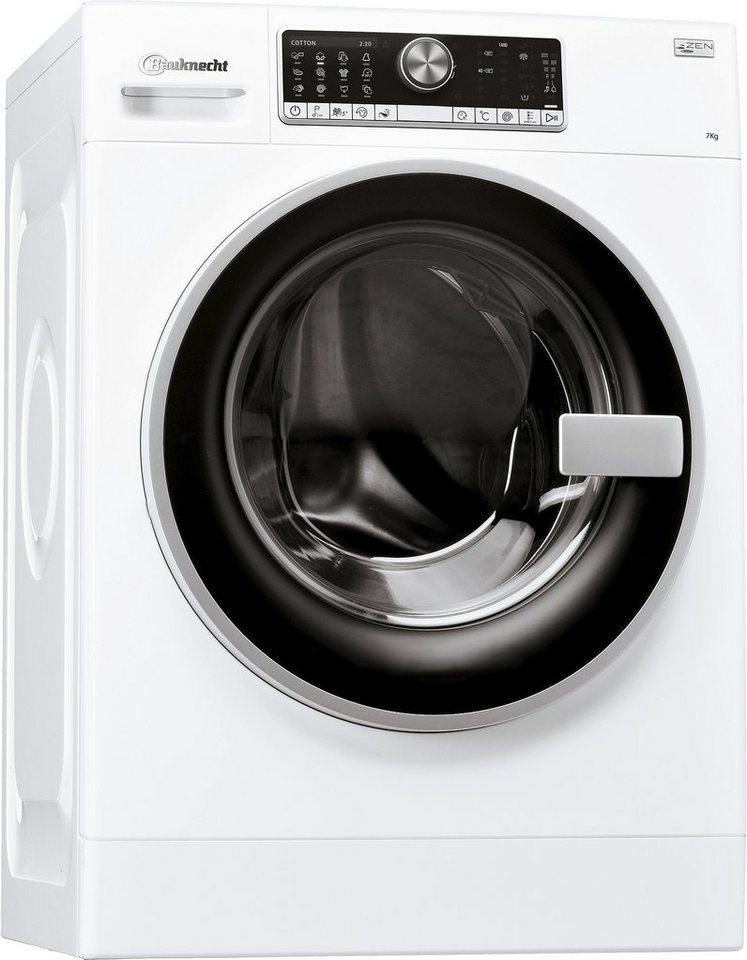 BAUKNECHT Waschmaschine WM Trend 724 ZEN, A+++, 7 kg, 1400 U/Min in weiß