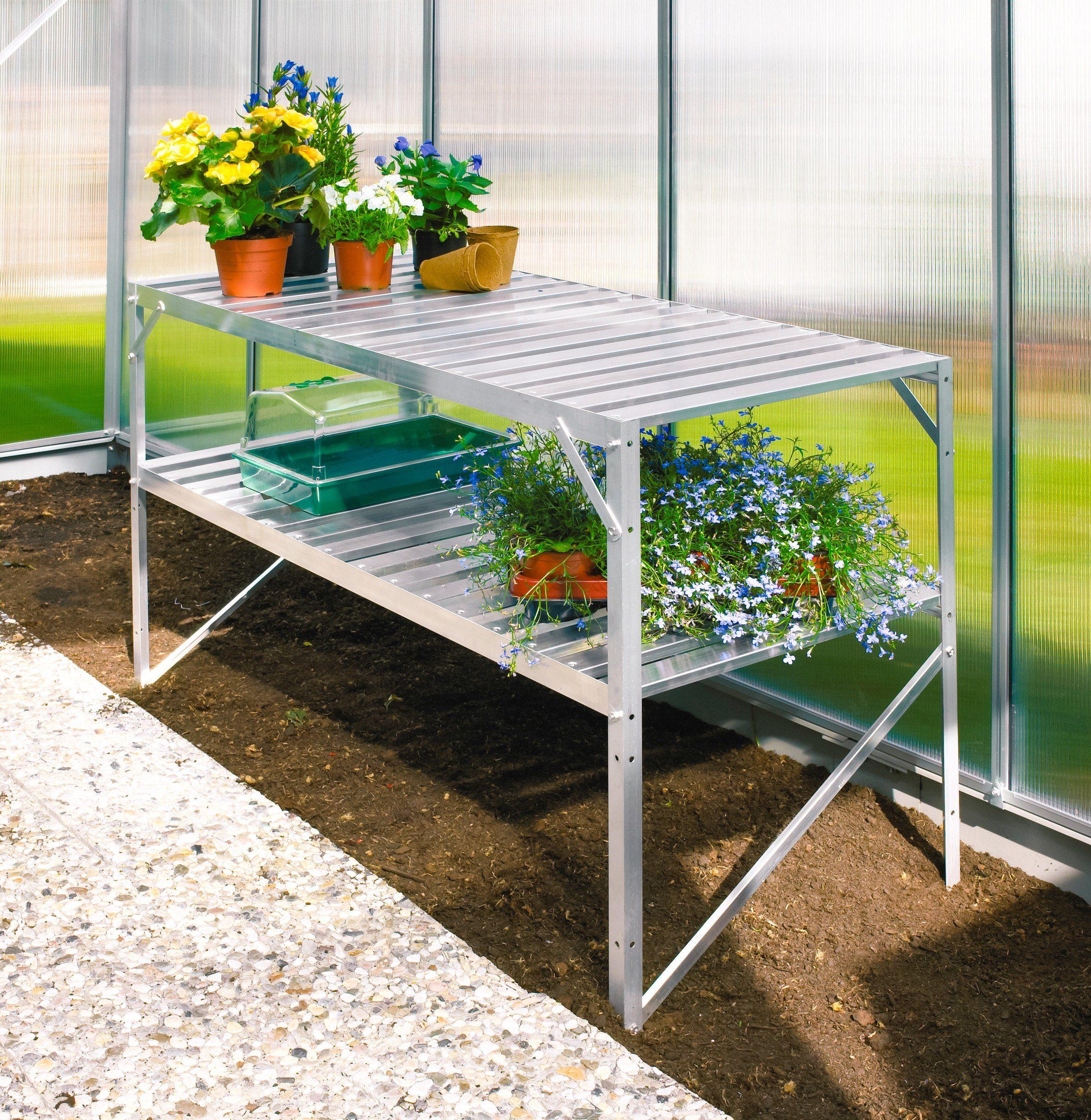 VITAVIA Tisch , für Gewächshäuser, BxTxH: 121x54x76 cm, aluminiumfarben