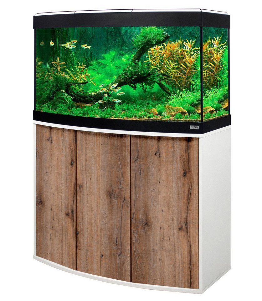 FLUVAL Aquarien-Set »Vincenza 180« in weiß/eichefarben