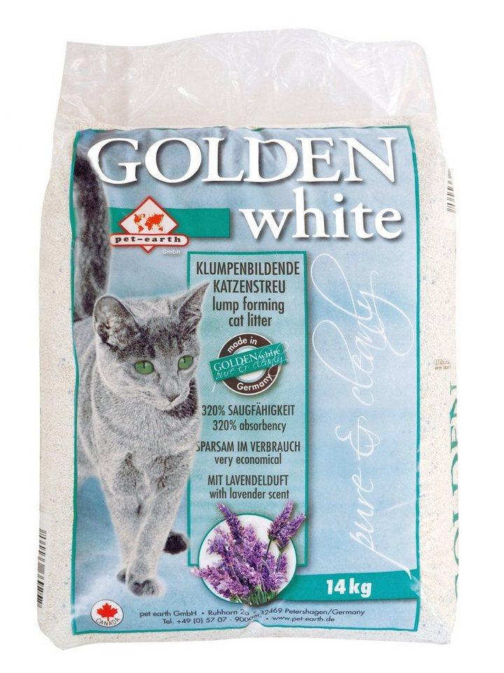 Katzenstreu in weiß