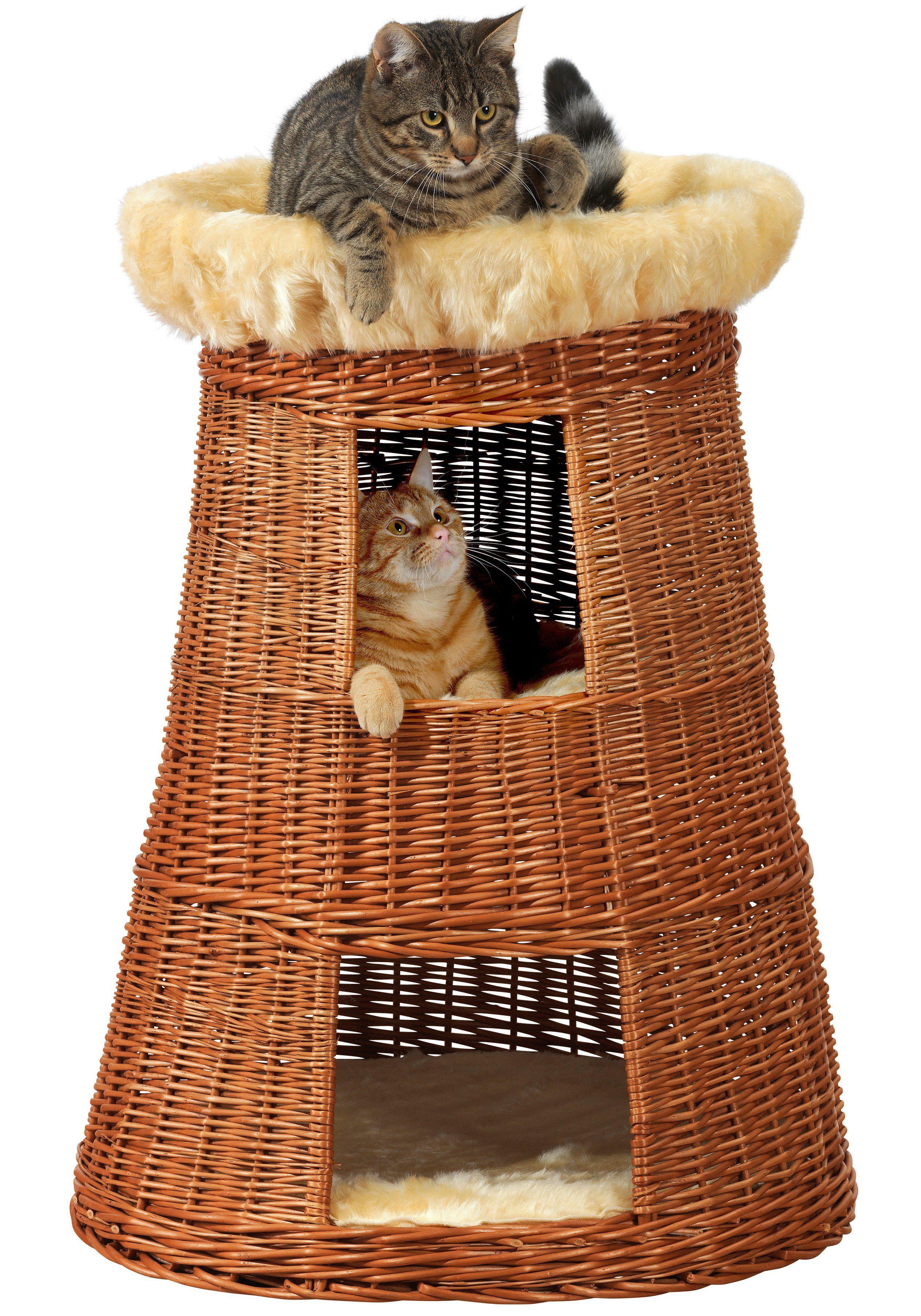 Katzen-Doppel-Korbturm »Weide«