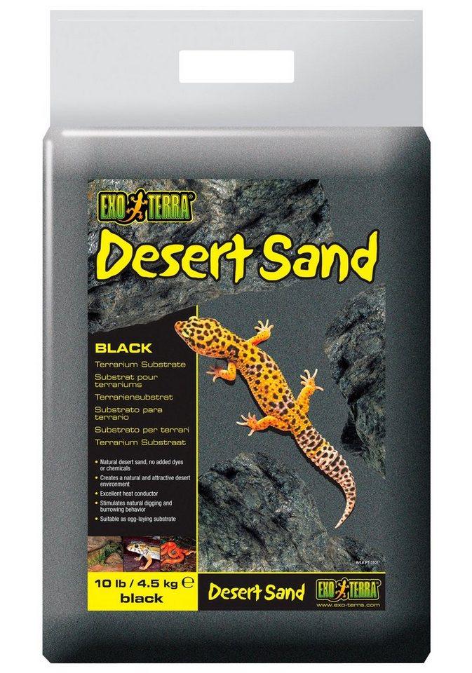 Terrariendeko »EX DesertSand« in schwarz
