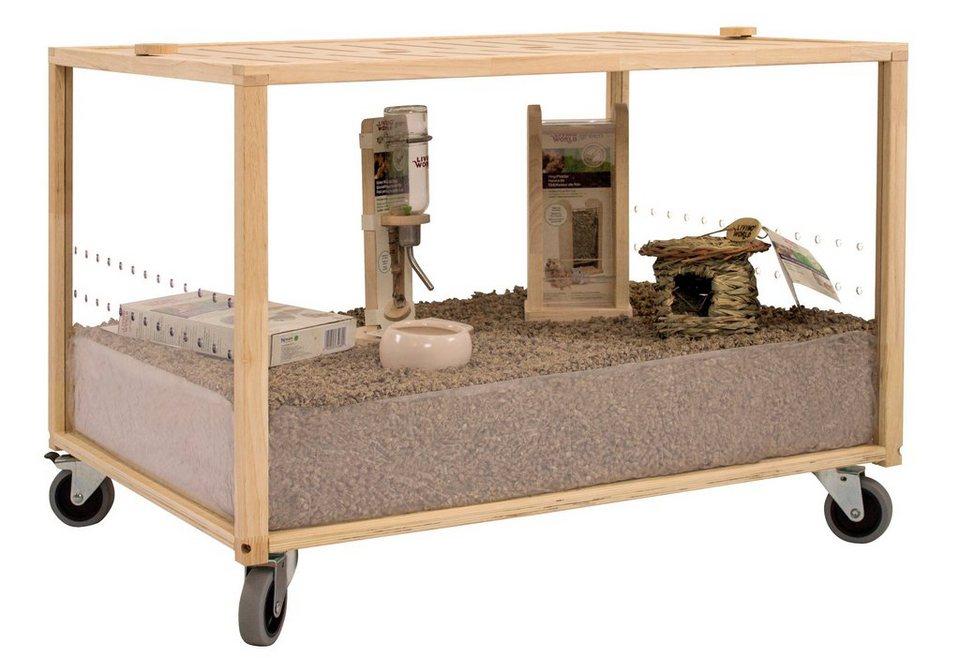 Kleintierkäfig »Moving Home S« (B/T/H: 80/60/45 cm) in natur