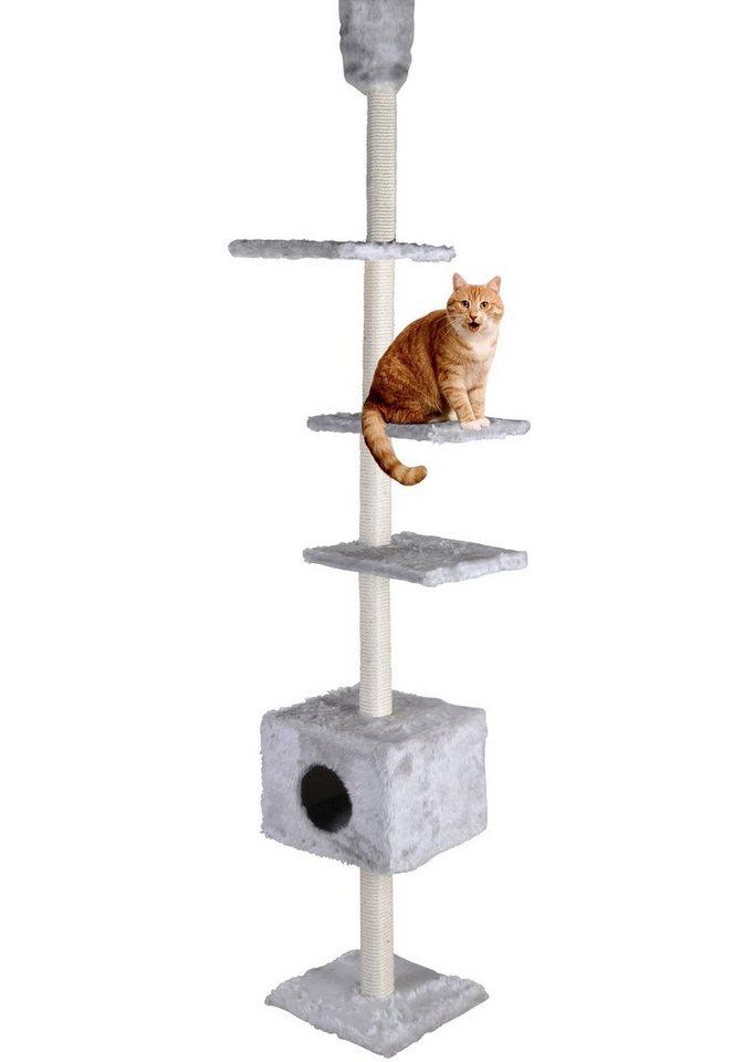 Kratzbaum-Deckenspanner »Kratzturm« in grau