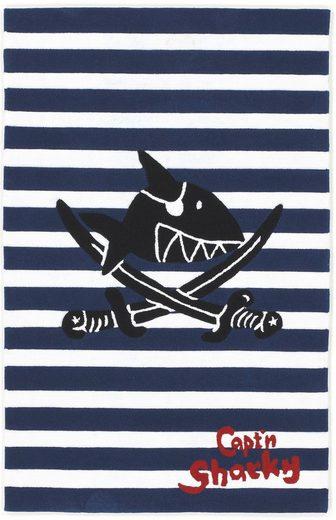 Kinderteppich »SH-2361-01«, Capt`n Sharky, rechteckig, Höhe 10 mm, Konturenschnitt