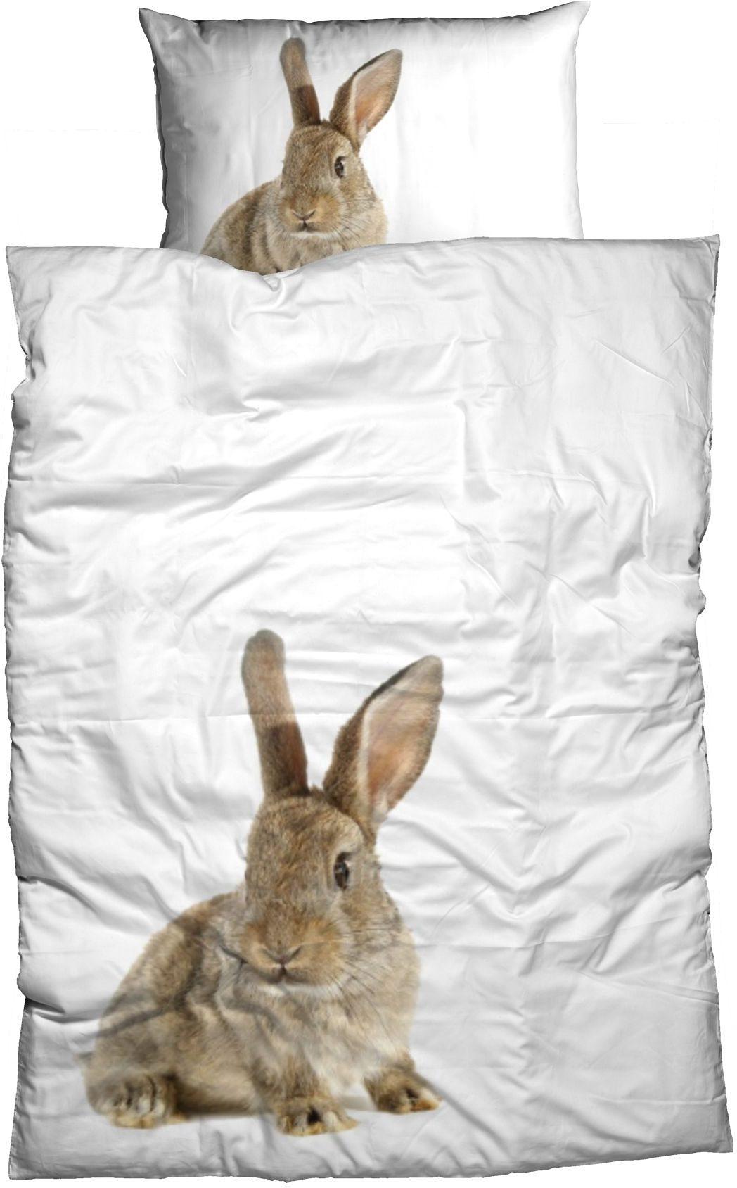 Bettwäsche, Casatex, »Hase«, großes Tiermotiv