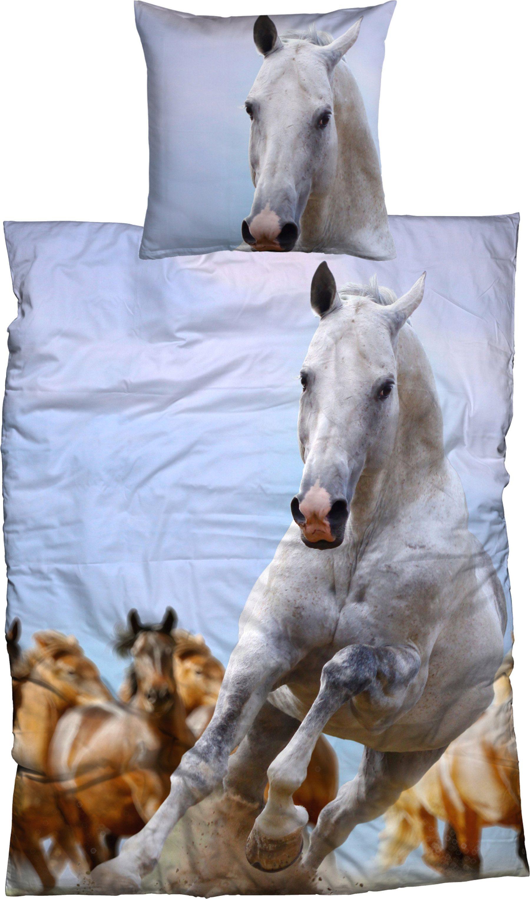 Bettwäsche »Cheval«, , galoppierendes Pferd