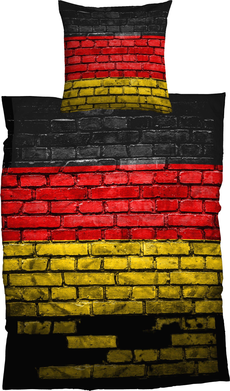 Bettwäsche, Casatex, »German Flag«, Steinmauer-Optik