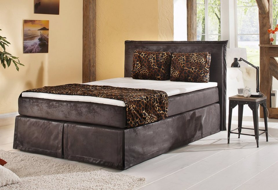 boxspringbett inkl topper home affaire brighton online kaufen otto. Black Bedroom Furniture Sets. Home Design Ideas