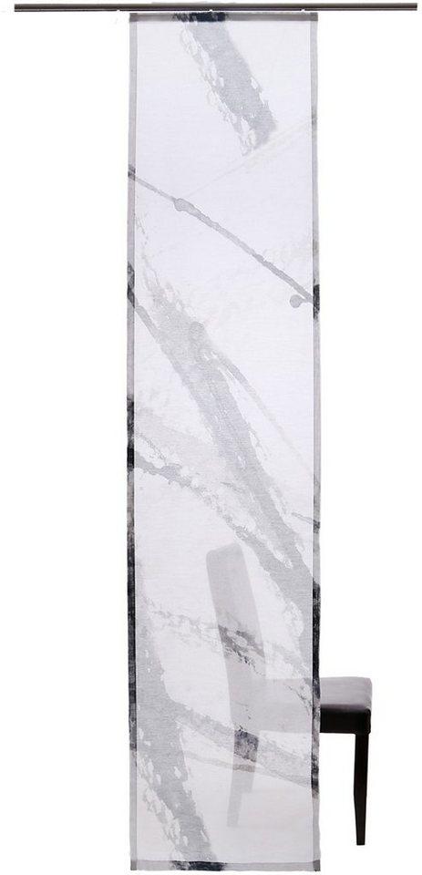 Schiebegardine, Homing, »Painting« (1 Stück mit Zubehör) in schwarz-weiß