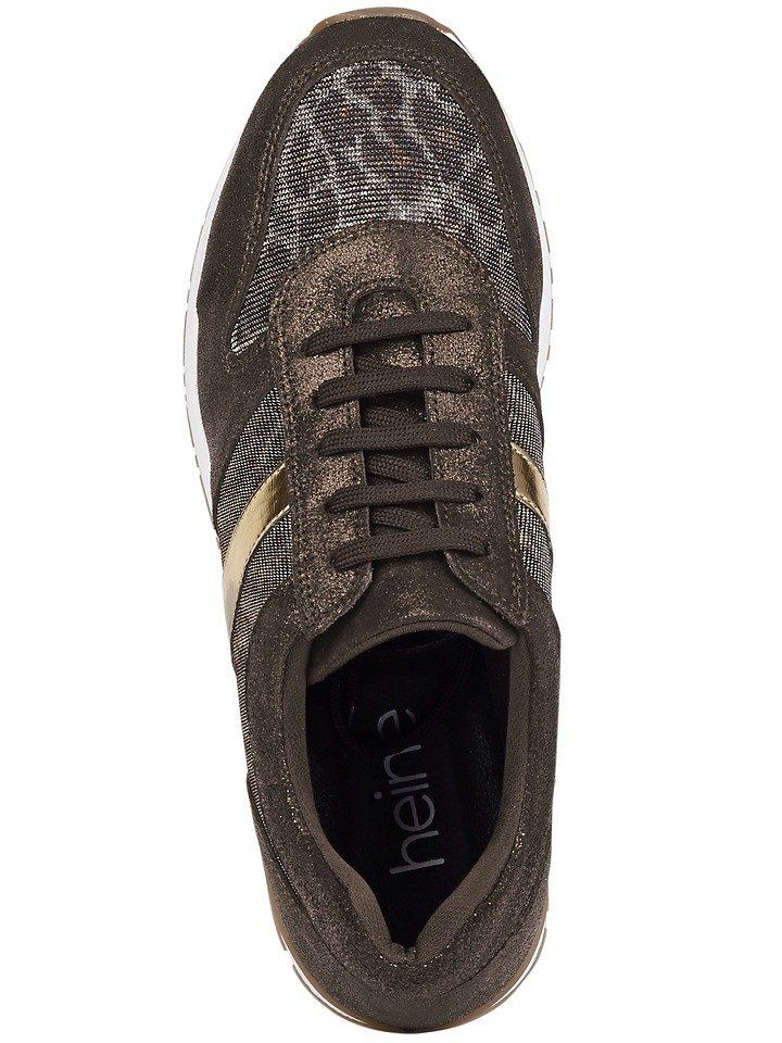 Heine Sneaker in braun/goldfarben
