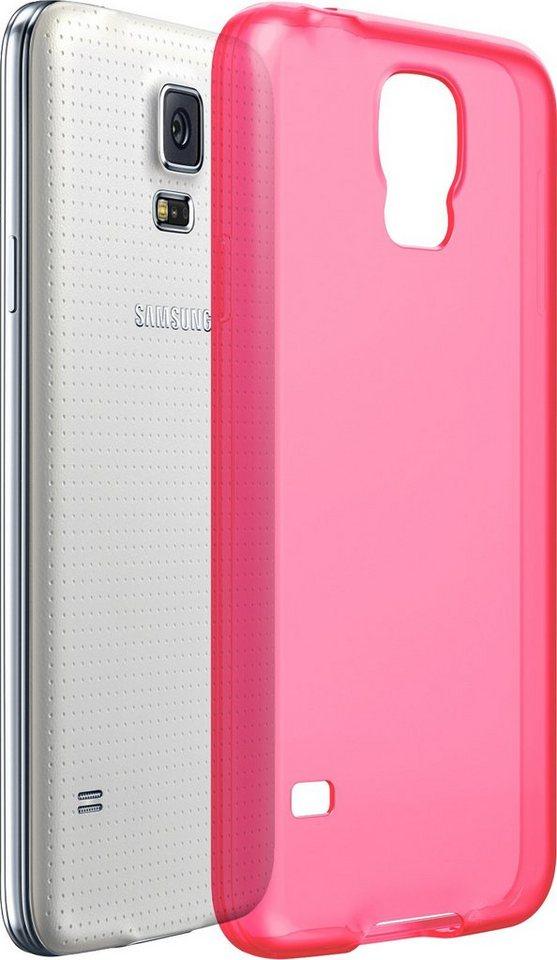 ODOYO Schutzhülle für Samsung Galaxy S5 »Stoßabsorbierende Hülle mit Display-Schutzkante« in pink