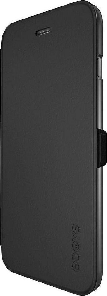 ODOYO Kunstleder-Standetui für iPhone 6 Plus »mit Magnetverschluss und Clip-In Halterung« in schwarz