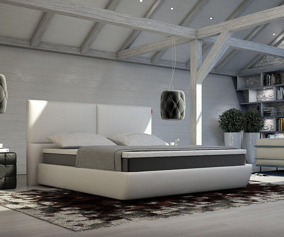 delife bett yumah weiss 180x200 cm mit topper und matratze online kaufen otto. Black Bedroom Furniture Sets. Home Design Ideas