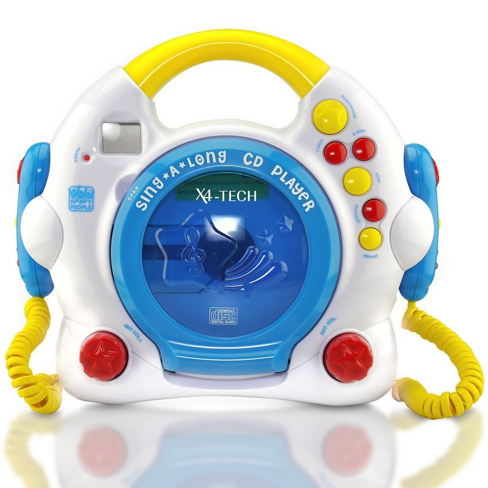 X4-TECH Kinder CD-Player Bobby Joey mit Anti-Schock-Speicher