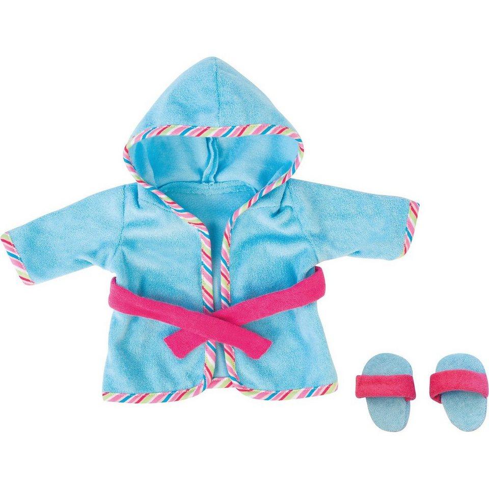 BAYER Puppenkleidung Bademantel blau 38 cm