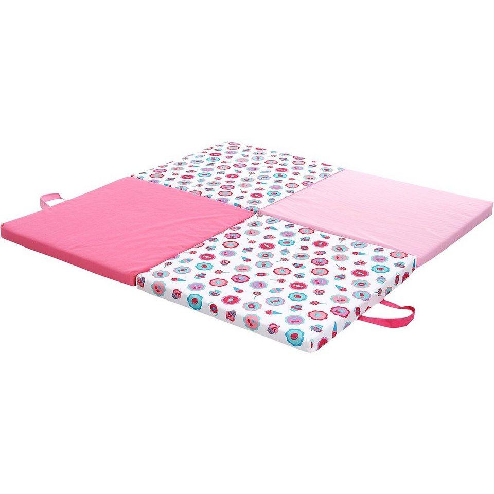 candide Spiel- und Reisematratze mit Tragetasche, pink in pink