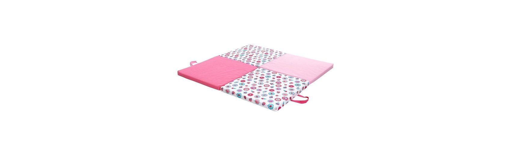 candide Spiel- und Reisematratze mit Tragetasche, pink