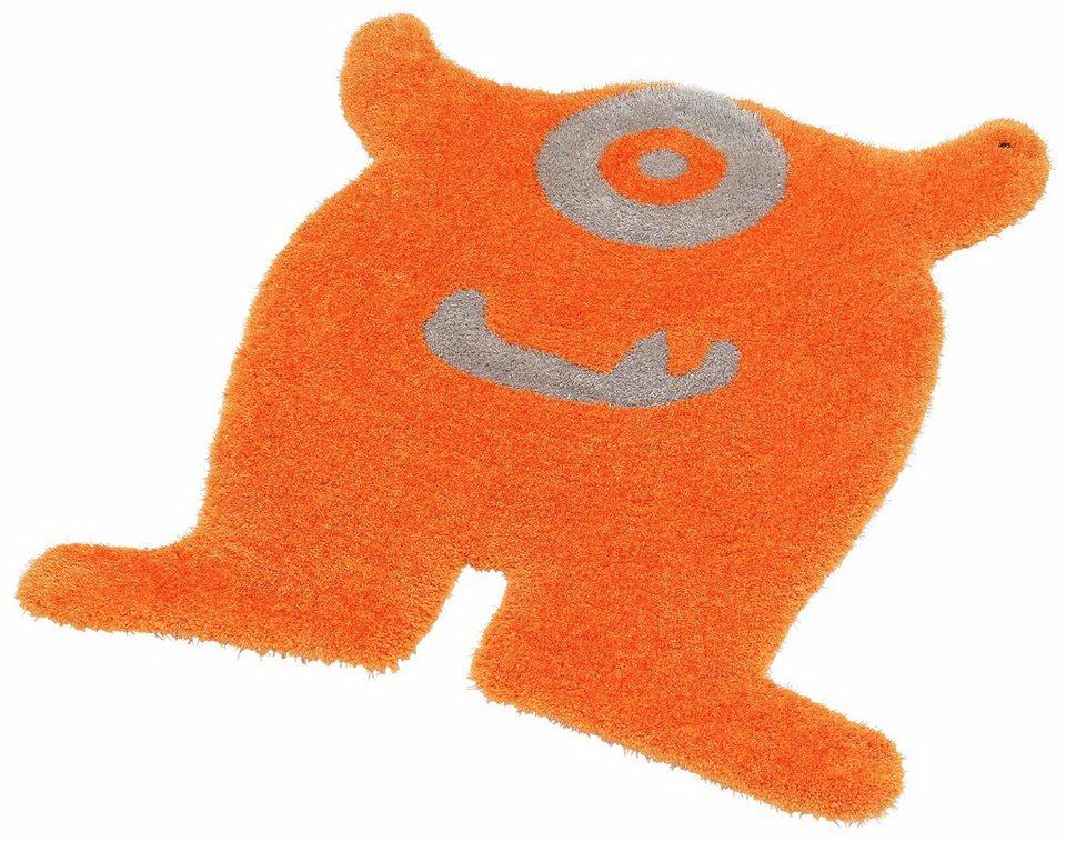 Kinder-Teppich, Tom Tailor, »Soft Monster«, Hochflor, Höhe 30 mm, handgearbeitet in orange